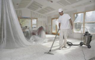 Byggrengjøring etter rent tørt bygg filosofien. Foto
