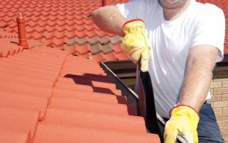 Taket har ikke godt av å bli mosegrodd. Photo